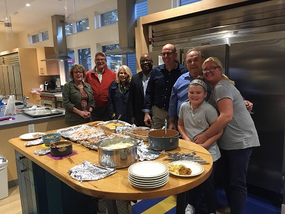 The Club put on a Traditional Thanksgiving dinner for the folks at the Ronald MacDonald house